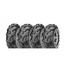 Pack 4 pneus avant et arrière MAXXIS Zilla 25x8-12 et 25x10-12