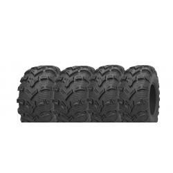 Pack 4 pneus avant et arrière KENDA Bear Claw EVO 25x8-12 et 25x10-12