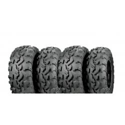 Pack 4 pneus avant et arrière ITP BajaCross 25x8-12 et 25x10-12