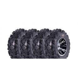 Pack 4 pneus avant et arrière DWT MOAPA run flat 25x8-12 et 25x10-12