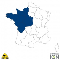Carte IGN 1/4 de France Nord-Ouest  GLOBE