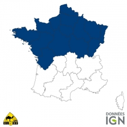 Carte IGN 1/4 de France Nord GLOBE