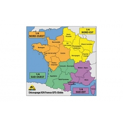 Carte IGN grande région GLOBE