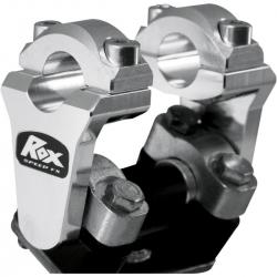 Réhausses de pontets pivotantes ROX 51mm finition alu pour guidon de 22mm