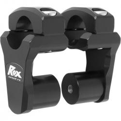 Réhausses de pontets pivotantes ROX 51mm couleur noir pour guidon de 28,6mm