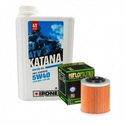 Pack vidange moteur IPONE 5W40 pour CAN AM RENEGADE 800 R/X/XXC